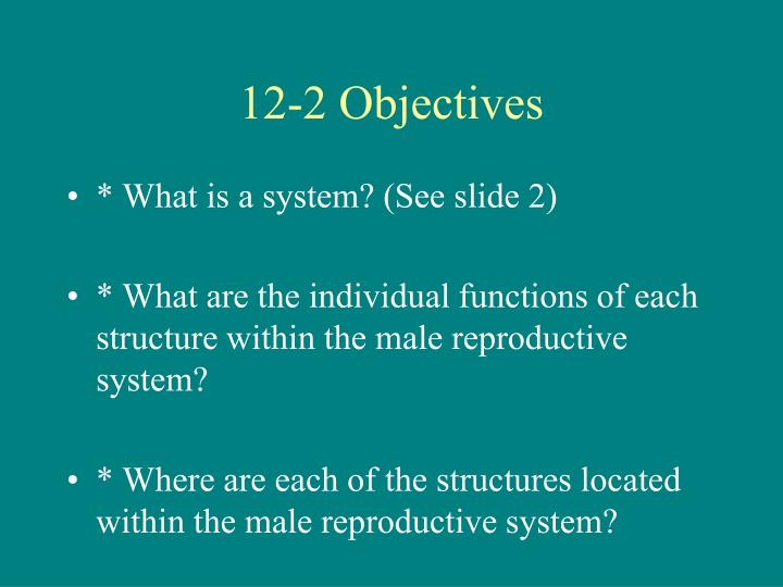 12 2 objectives