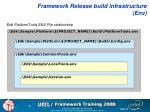 framework release build infrastructure env1