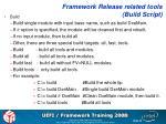 framework release related tools build script1