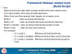 framework release related tools build script2