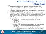 framework release related tools build script3