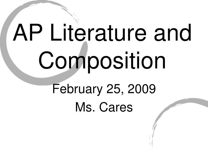 ap language and composition essays 2009 Learn how to read critically and ace three different essays 5 tips for a 5: ap english language and ap english language and composition exam.
