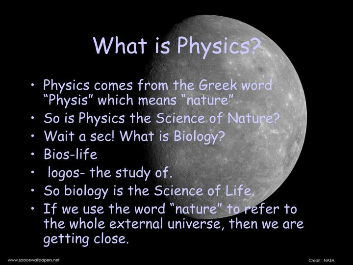 What is physics1