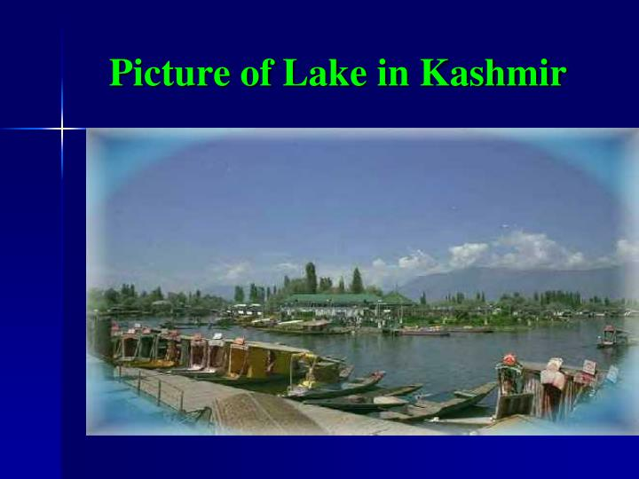 Picture of Lake in Kashmir