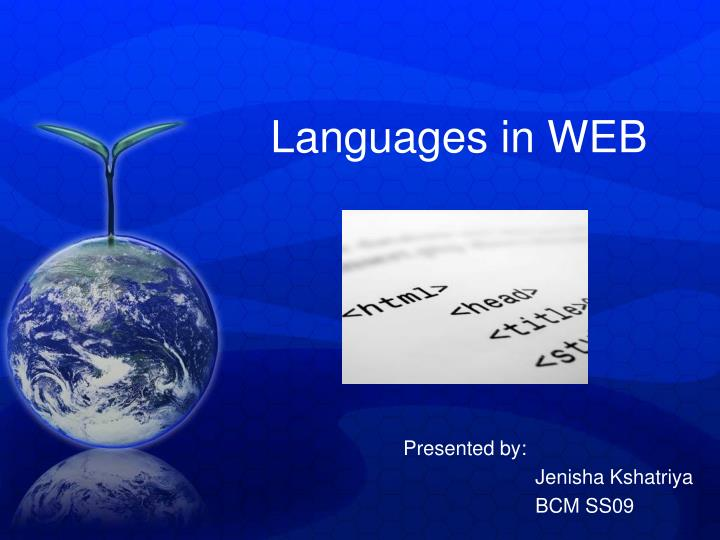 languages in web n.