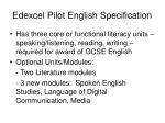 edexcel pilot english specification
