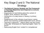 key stage 2 and 3 the national strategy