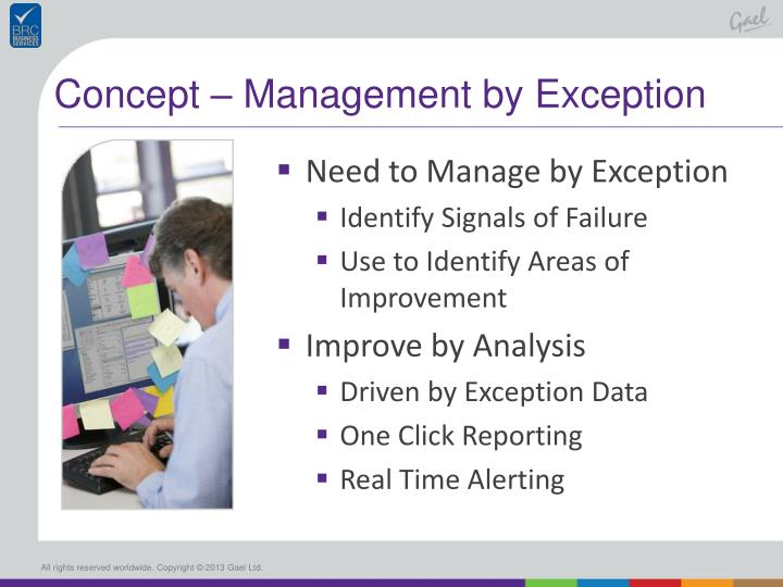 Concept – Management by Exception