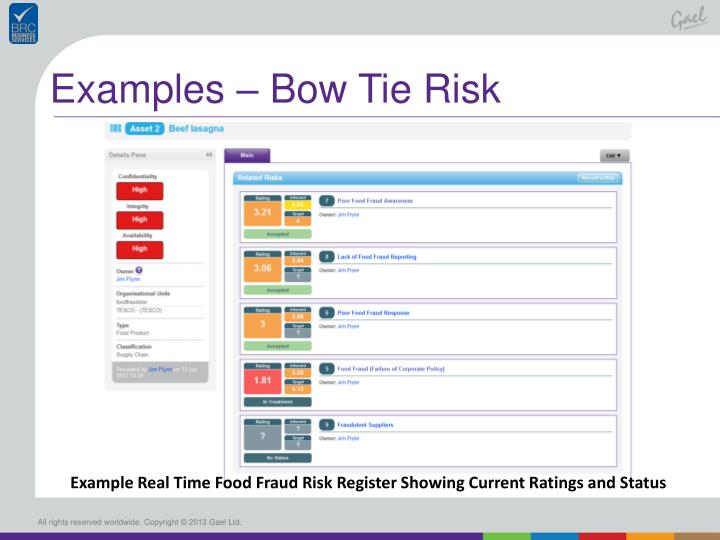 Examples – Bow Tie Risk