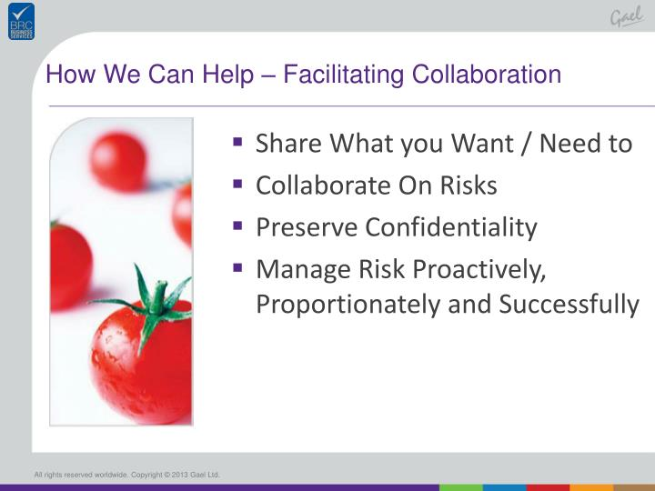 How We Can Help – Facilitating Collaboration