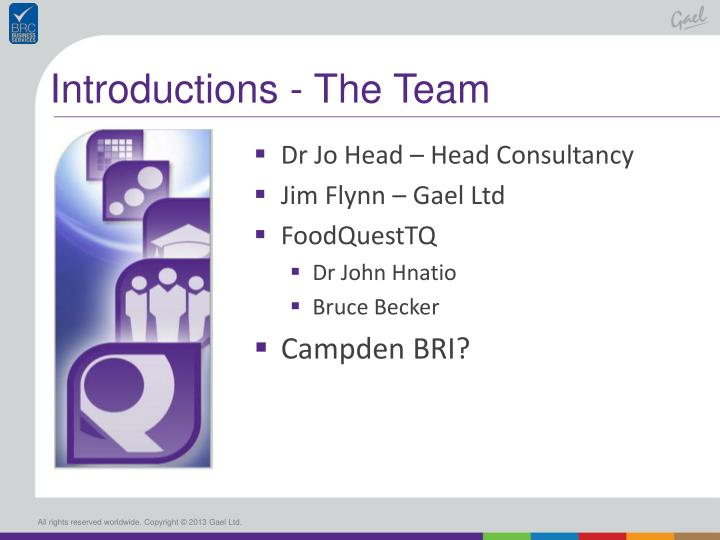 Introductions - The Team
