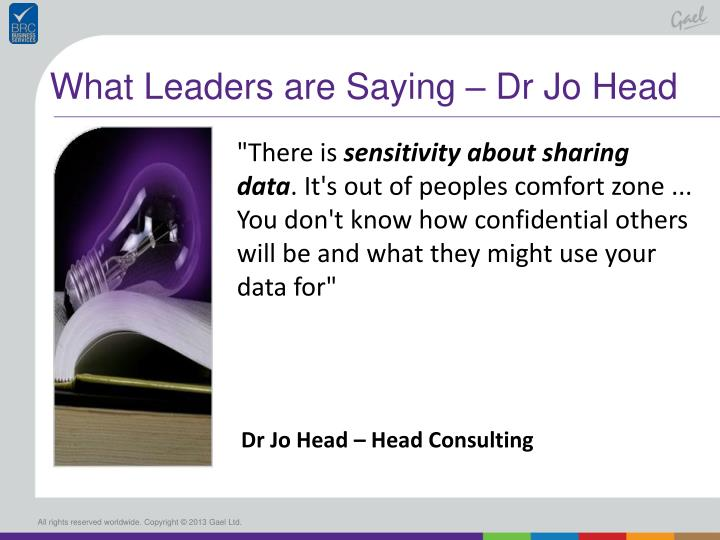 What Leaders are Saying – Dr Jo Head