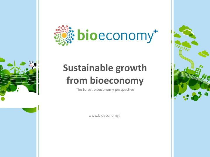 sustainable growth from bioeconomy n.