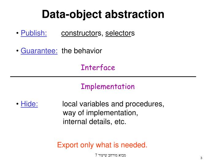 Data object abstraction