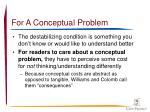 for a conceptual problem