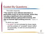 guided by questions