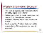 problem statements structure