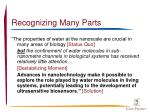 recognizing many parts