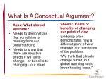 what is a conceptual argument