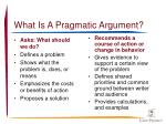 what is a pragmatic argument