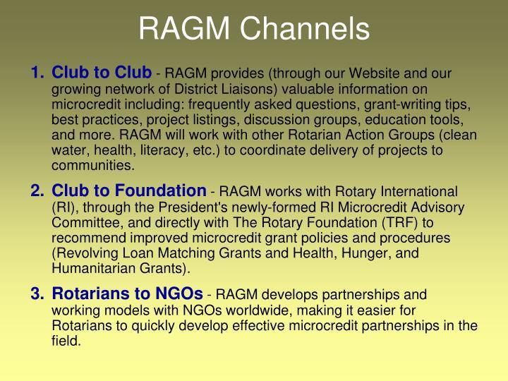 RAGM Channels