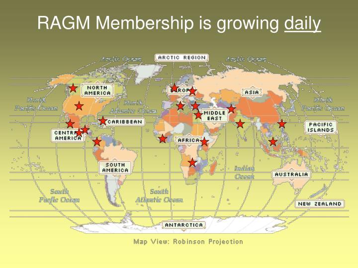 RAGM Membership is growing