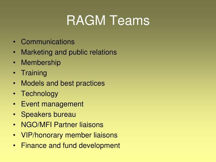 RAGM Teams