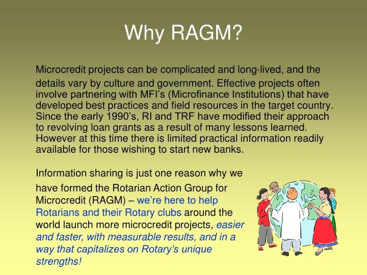 Why RAGM?