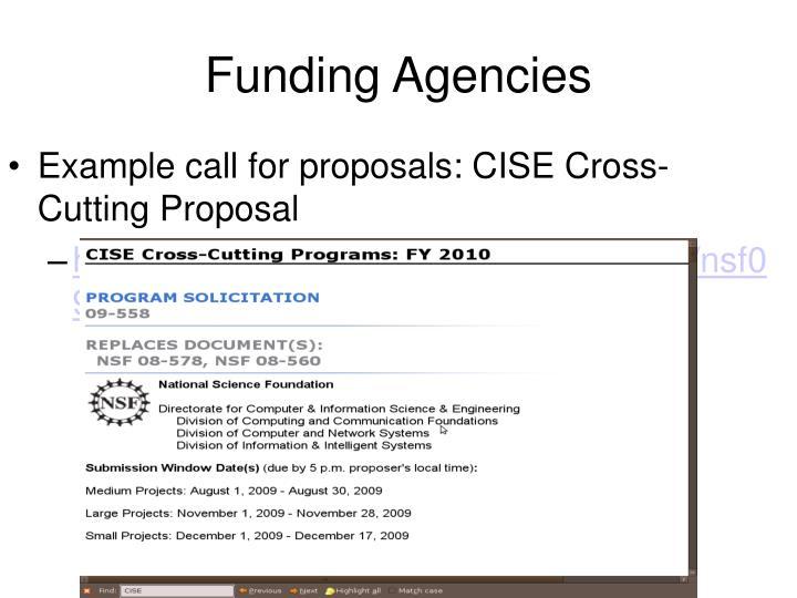 Funding Agencies