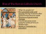 rise of the roman catholic church