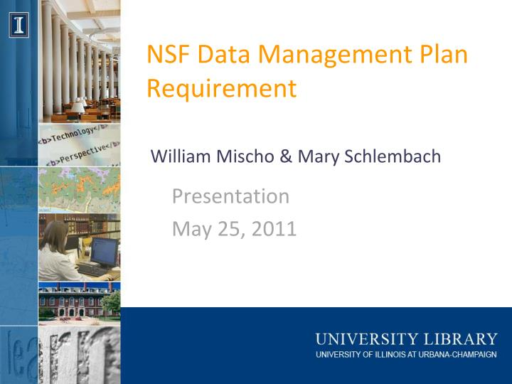 nsf data management plan requirement n.