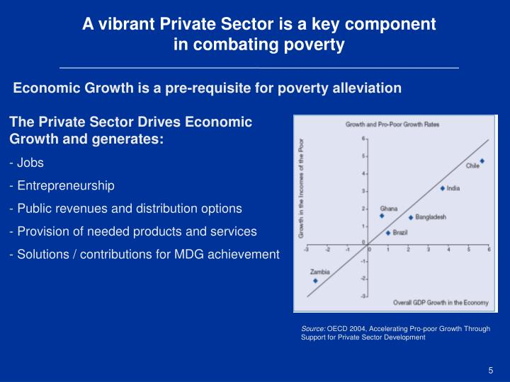 A vibrant Private Sector is a key component