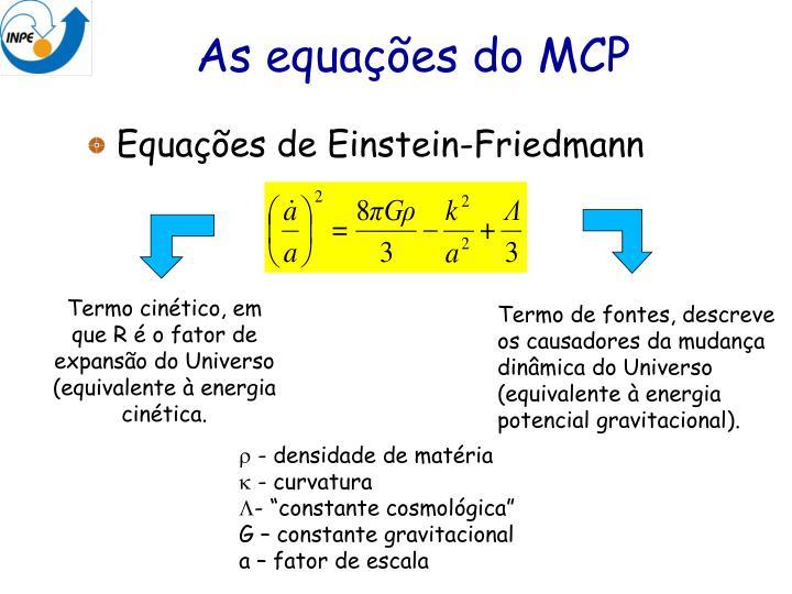 As equações do MCP