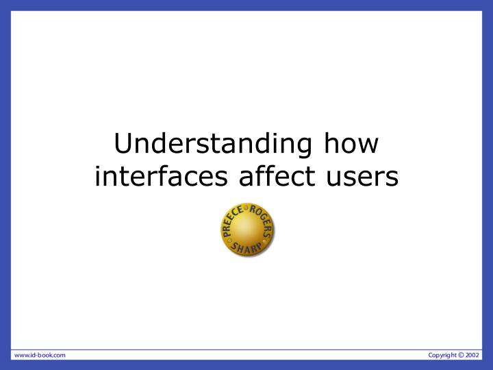 understanding how interfaces affect users n.