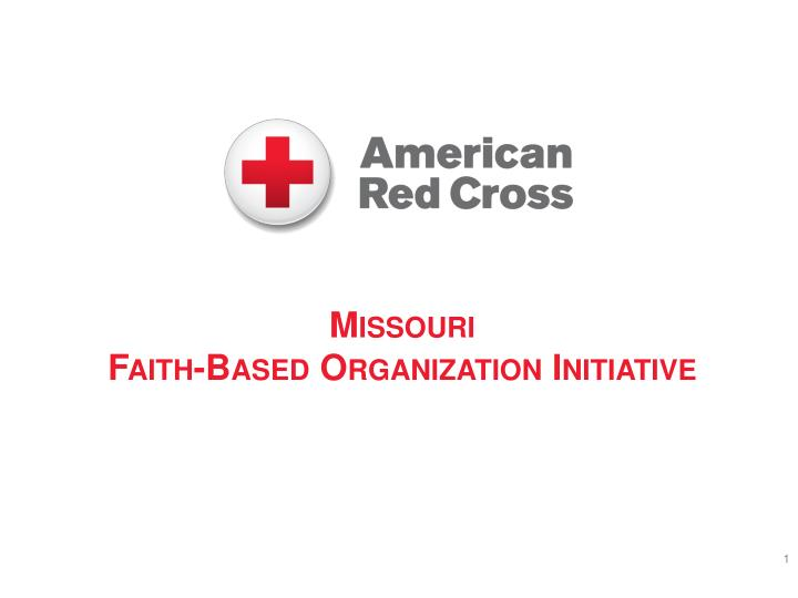 Missouri faith based organization initiative