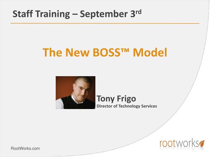 Staff training september 3 rd