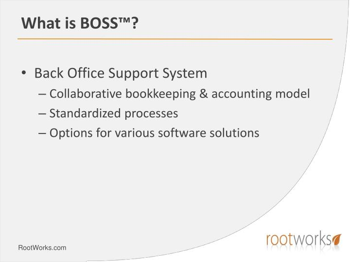 What is BOSS™?