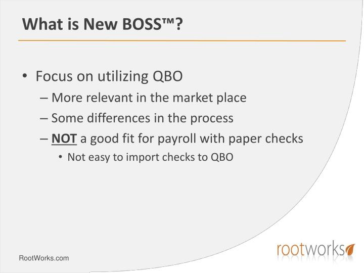 What is New BOSS™?