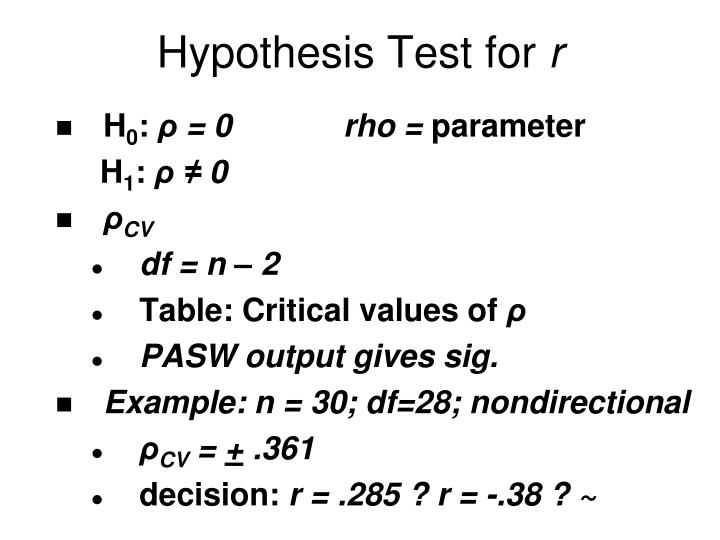 Hypothesis Test for