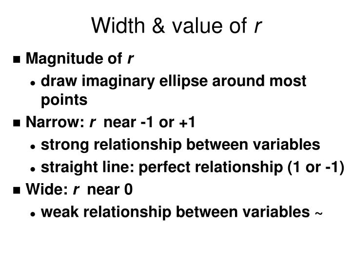 Width & value of