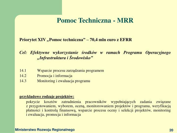 Pomoc Techniczna - MRR