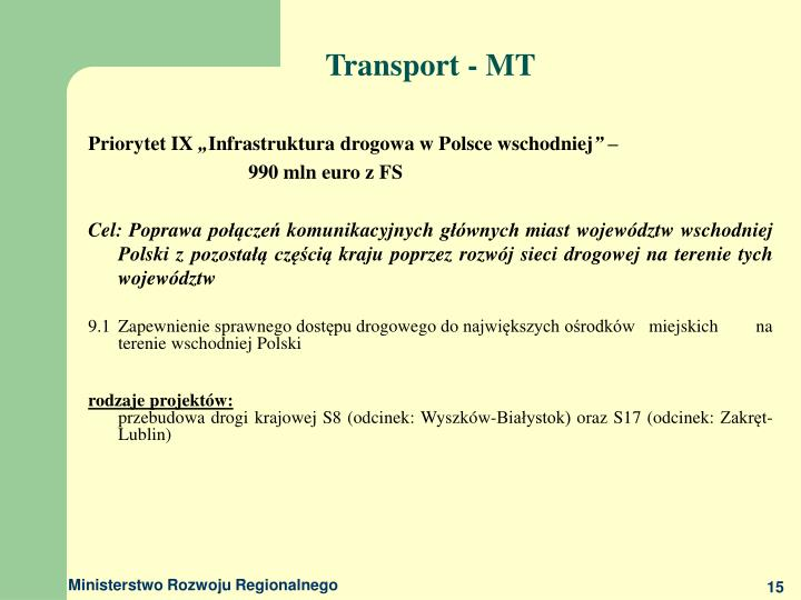 Transport - MT
