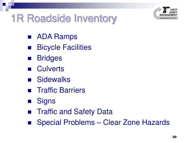 1R Roadside Inventory