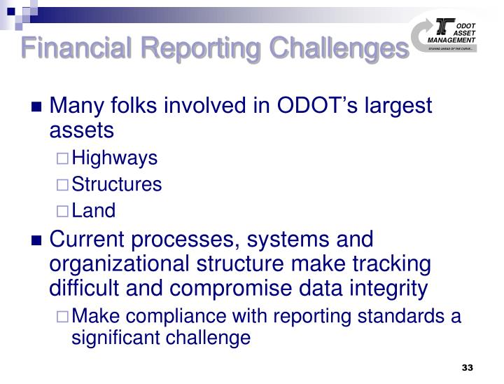 Financial Reporting Challenges