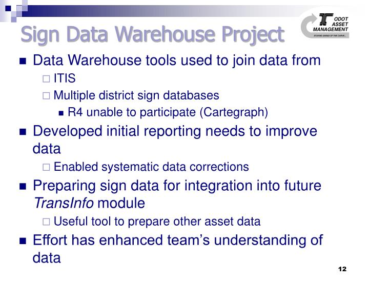 Sign Data Warehouse Project