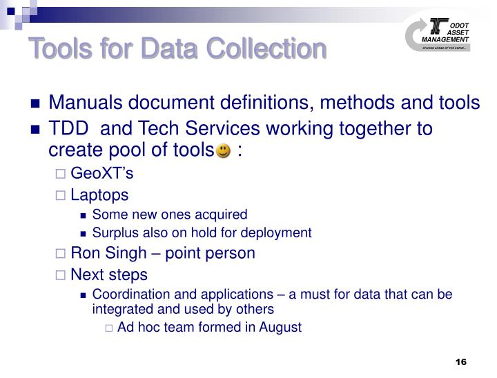 Tools for Data Collection