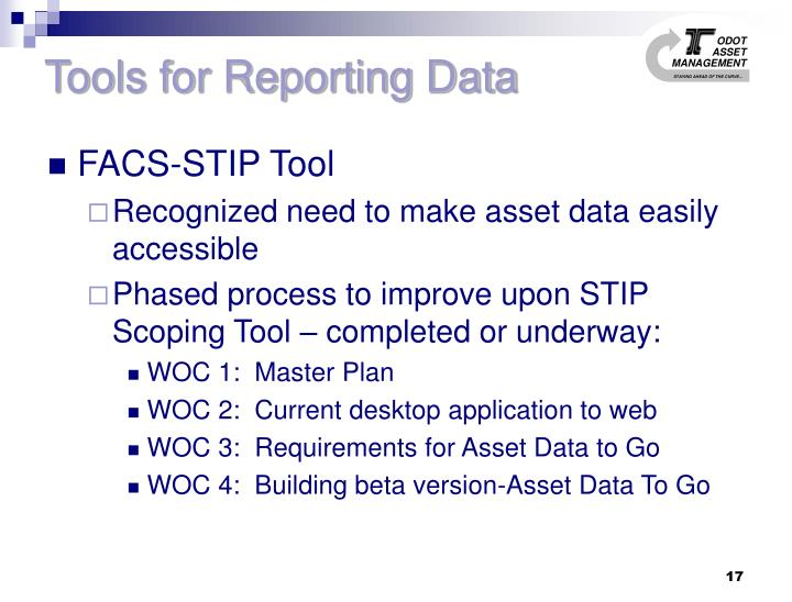 Tools for Reporting Data