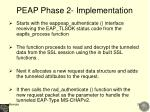 peap phase 2 implementation