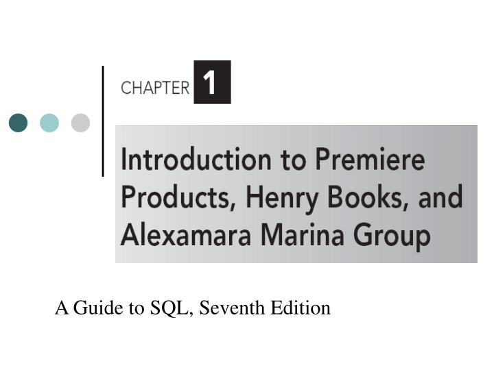 premiere products chapter 8