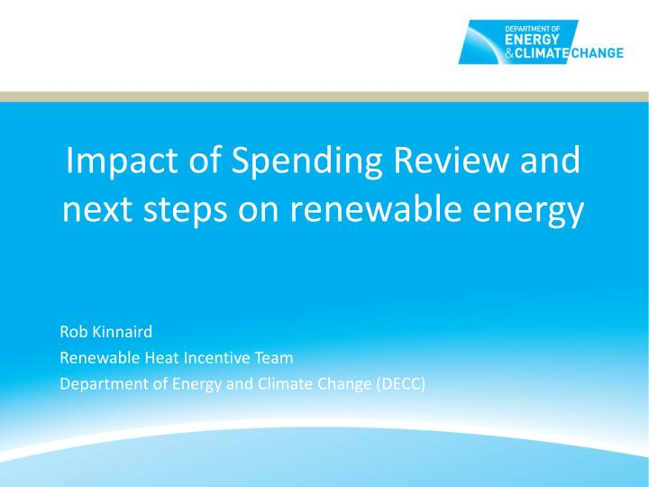 impact of spending review and next steps on renewable energy n.